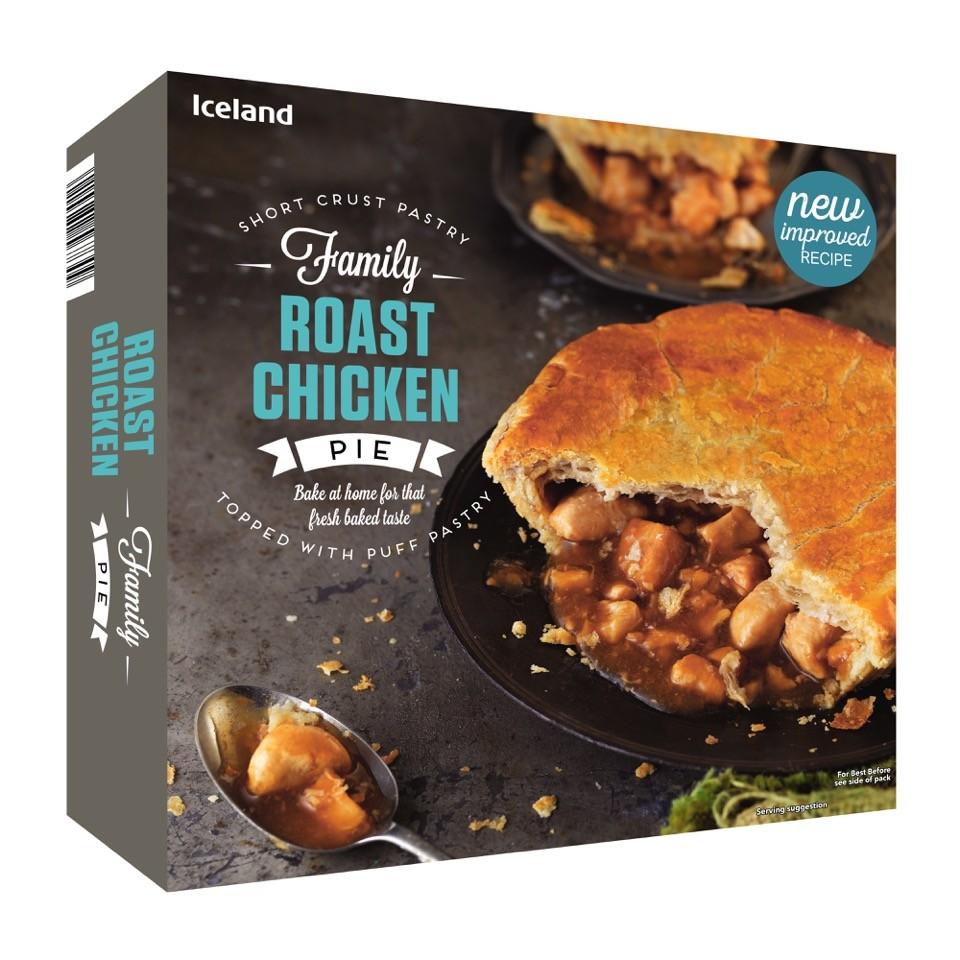 Iceland Roast Chicken Family Pie 800g