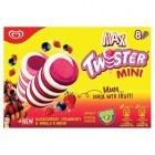 Twister Mini Blackcurrant, Strawberry & Vanilla Flavour Ice Cream Lolly 8 x 50ml