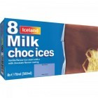 Iceland 8 Milk Choc Ices 560ml