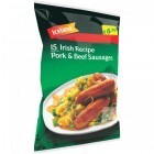 Iceland 15 Irish Recipe Pork & Beef Sausages 450g
