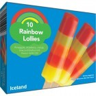 Iceland 10 Rainbow Lollies 400ml
