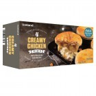 Iceland 4 Short Crust Pastry Creamy Chicken Pies Topped with Puff Pastry 568g
