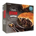 Iceland Short Crust Pastry Family Steak Pie Topped with Puff Pastry 800g