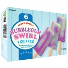 Iceland 6 Super Swirly Bubblegum Swirl Lollies 300ml