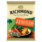 Richmond 22 Skinless Frozen Pork Sausages 586g