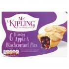 Mr Kipling 6 Bramley Apple & Blackcurrant Pies (Frozen)