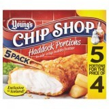 Young's Chip Shop Haddock Portions in our Crispy Bubbly Batter 5 Pack 500g