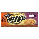 Jacobs Baked Cheddars & BBQ flavour Biscuits 150g