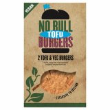 2 No Bull Vegan Tofu & Vegetable Burgers 200g