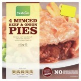 Freshpies 4 Minced Beef & Onion Pies 480g