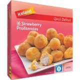 Iceland Quick Defrost 16 Strawberry Profiteroles 200g