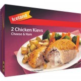 Iceland 2 Chicken Kievs Cheese & Ham 250g
