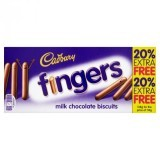 Cadbury Fingers Milk Chocolate Biscuits 114g