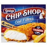 Young's Chip Shop 4 Large Cod Fillets in Our Crisp Bubbly Batter 480g