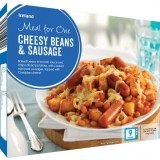 Iceland Meal For One Cheesy Beans & Sausage 500g