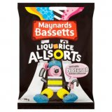 Maynards Bassetts Liquorice Allsorts Sweets Bag 400g