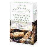 Linda McCartney 6 Vegetarian Sausages with Red Onion & Rosemary Frozen 300g