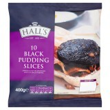 Hall's 10 Black Pudding Slices 400g