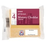 Iceland British Mature Cheddar Coloured Cheese 180g