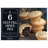 Iceland 6 Deep Fill Mince Pies 390g