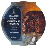 Iceland Classic Fruity Christmas Pudding with Cider, Sherry and Rum 454g