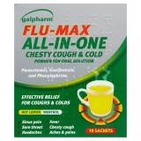 Galpharm Flu-Max All-In-One Chesty Cough & Cold Powder for Oral Solution 5 Sachets