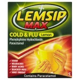 Lemsip Max Cold & Flu Lemon 5 Sachets