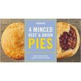 Iceland 4 Minced Beef & Onion Pies 480g