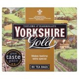 Taylors of Harrogate Yorkshire 80's Gold Tea Bags