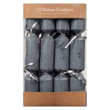 Deluxe Christmas Crackers 34cm - 12 Pack & Metallic Gift