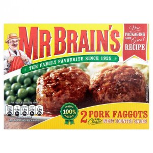 Mr Brain's 2 Pork Faggots in Our Classic West Country Sauce 222g