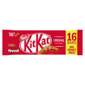 KIT KAT 2 Finger Milk Chocolate Biscuit Bar 16 pack