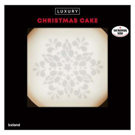 Iceland Luxury Christmas Cake 1Kg
