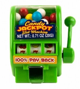 Candy Jackpot Slot Machine Hard candy dispenser 220g
